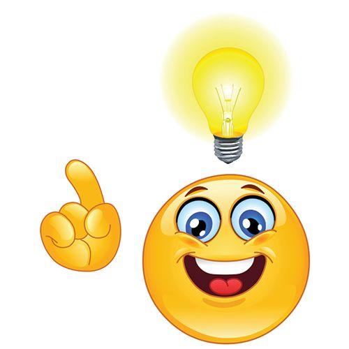 Facebook Smiley Having an Idea!