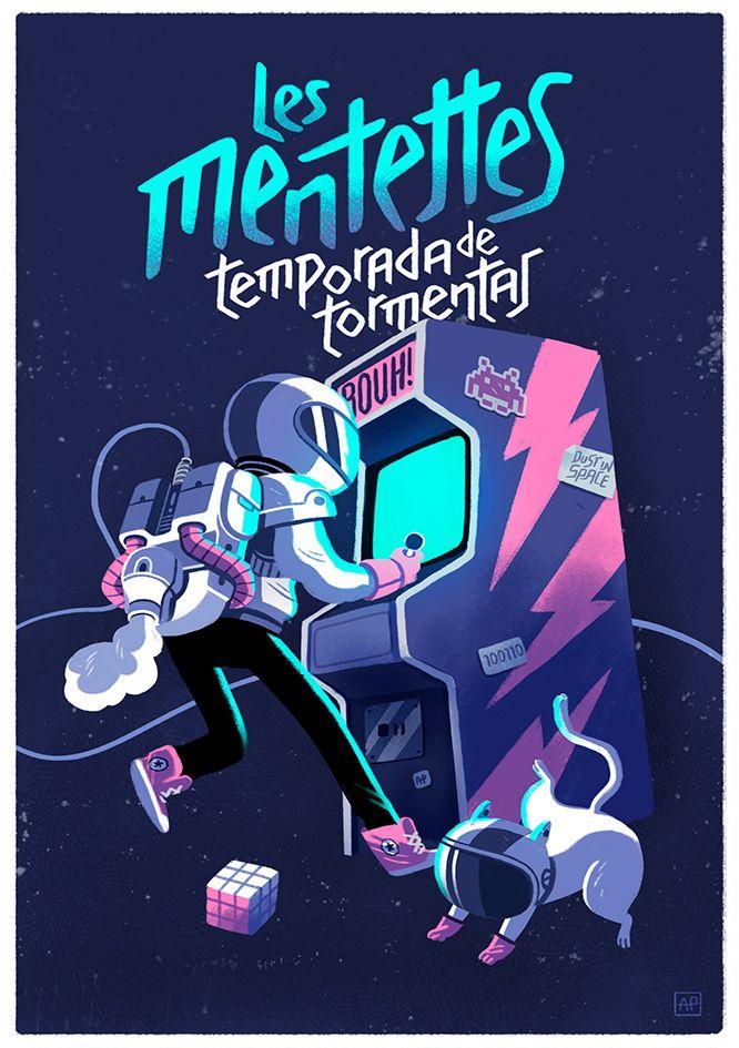 Gig Poster: Les Mentettes on Behance