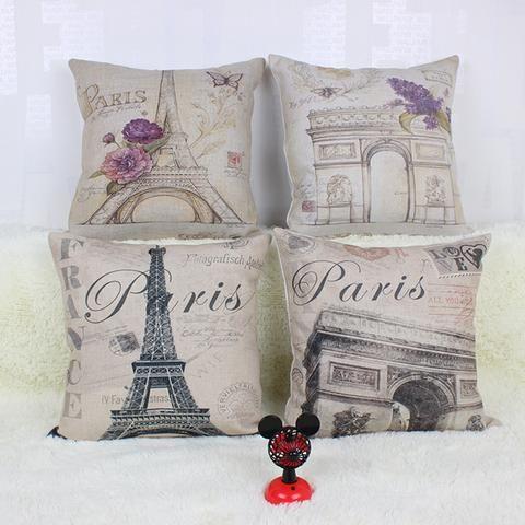 Vintage Eiffel Tower in ParisThrow Pillow
