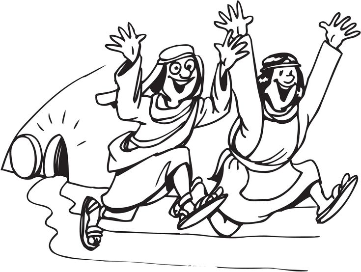 easter resurrection empty tomb coloring page