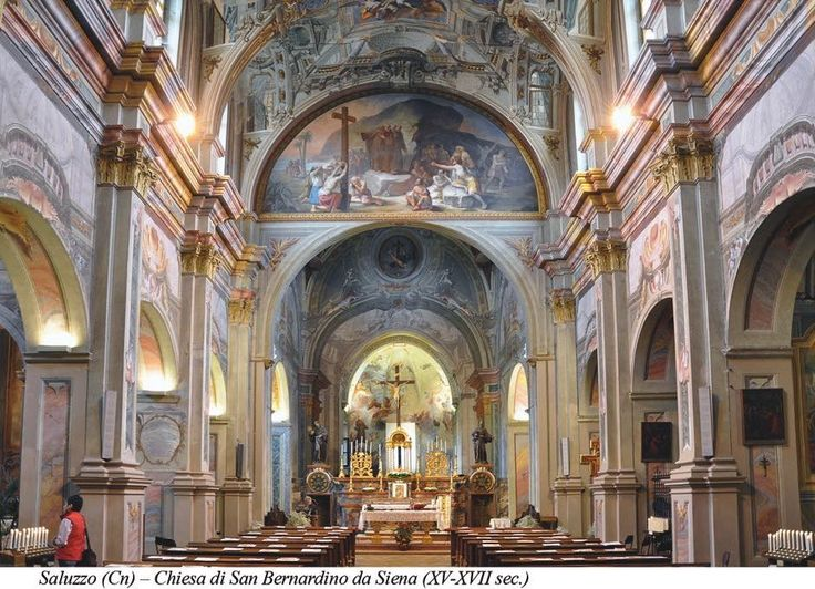 The nave of San Bernardino's church (XV-XVII c.) in Saluzzo - Cuneo - Piedmont - Italy after paintings conservation (2009-2011)