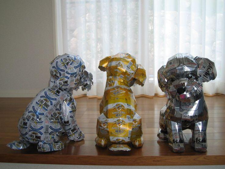 Latas recicladas, cómo hacer esculturas - Animales 32