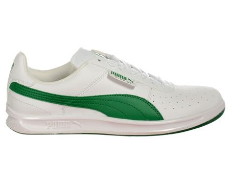 Puma G.Vilas L2 White/Green Leather Trainers Puma G. Vilas L2 White/Green Leather Trainers Colourway