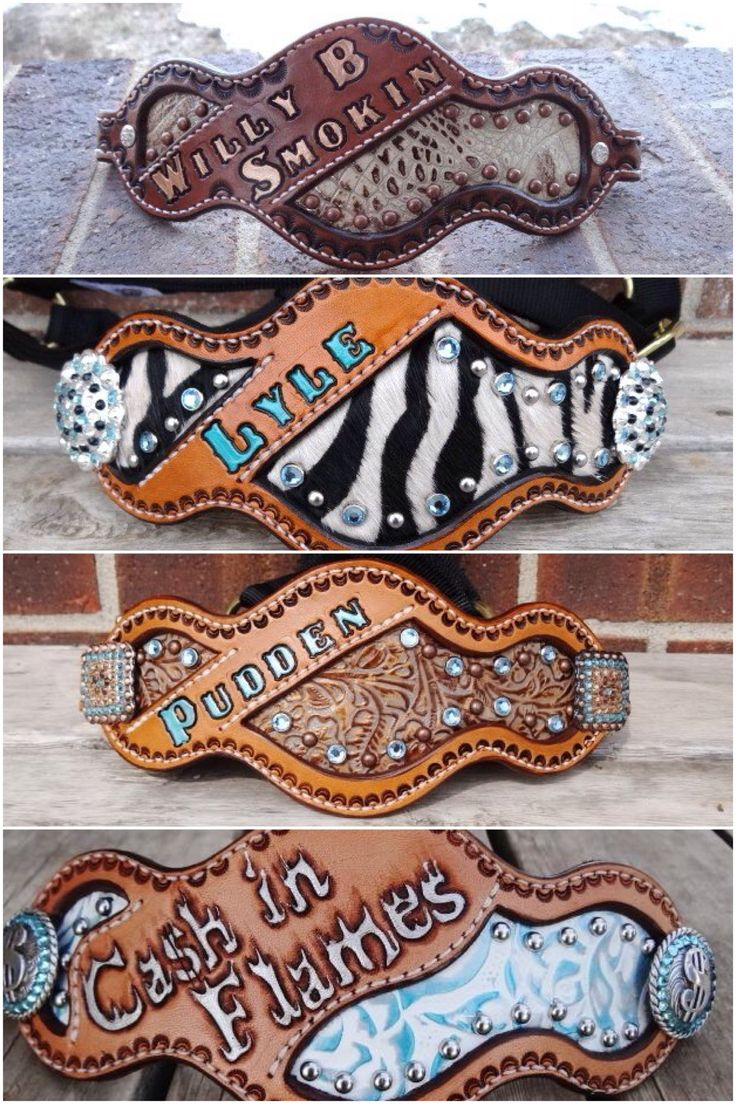 Bronc halter nosebands with crystals and carving. Is there such thing as too much tack? Never ; )
