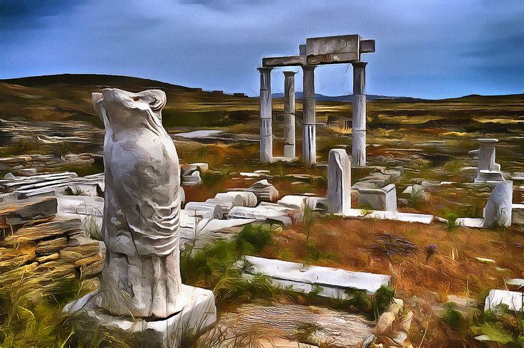 Ancient Delos. Delos, Myconos, Greece.