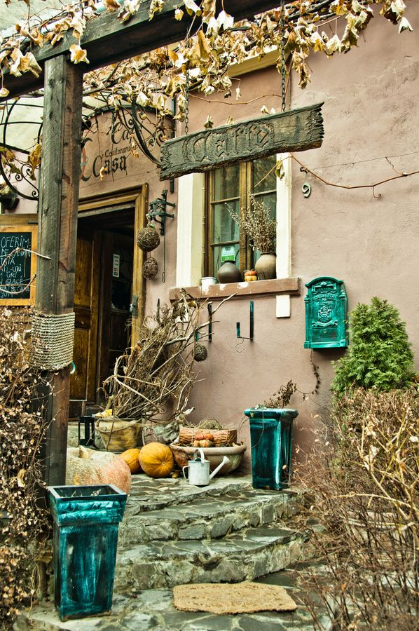 "500px / Photo ""Sighisoara - Cofee Shop"" by silviux. I would love to drink coffee here (well, I don't like coffee, but whatever)."
