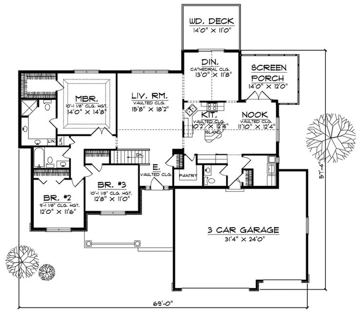 74 Best Images About Single Story Homes Floor Plans On