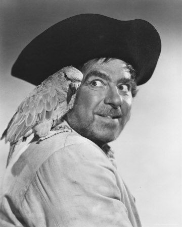 Robert Newton as Long John Silver in Disney's Treasure Island (1950's)