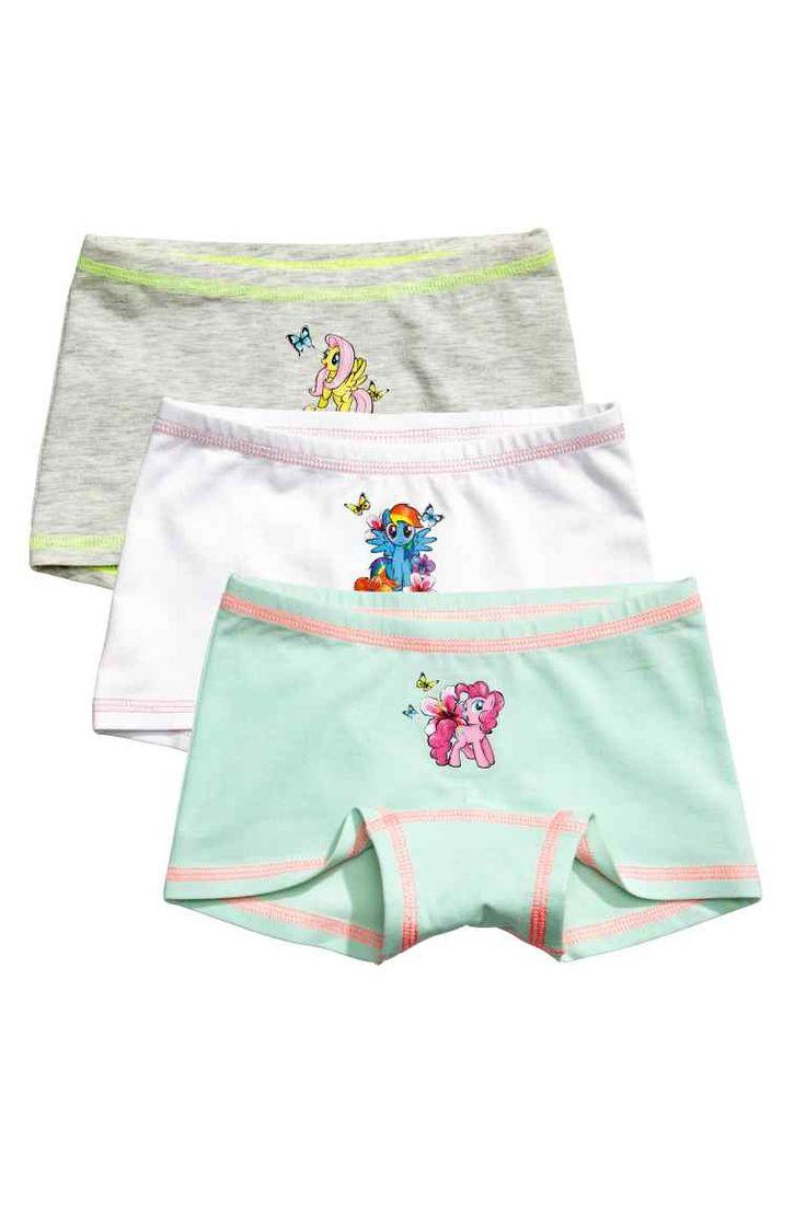 3-pack boxer briefs - White/My Little Pony - Kids | H&M GB 1