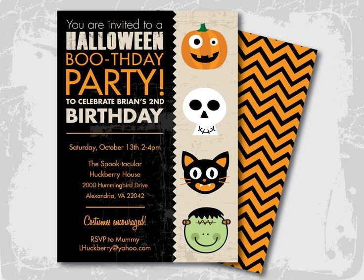 Halloween Birthday Party Invitation by GoodiesDesigns on Etsy