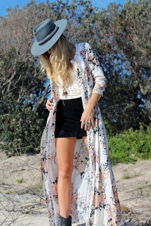 Wonderful 51 Popular Long Kimono Summer Outfit Ideas