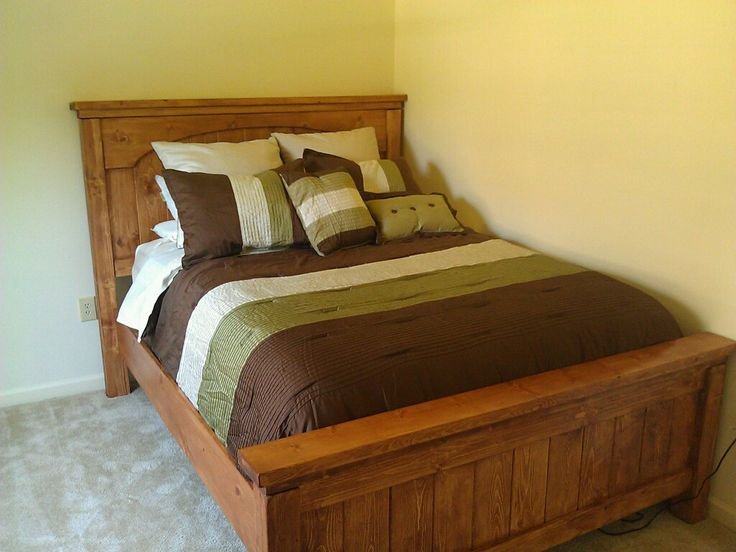 Best Queen Farmhouse Bed With Arch Do It Yourself Home Projects From Ana White Farmhouse Bedding 400 x 300