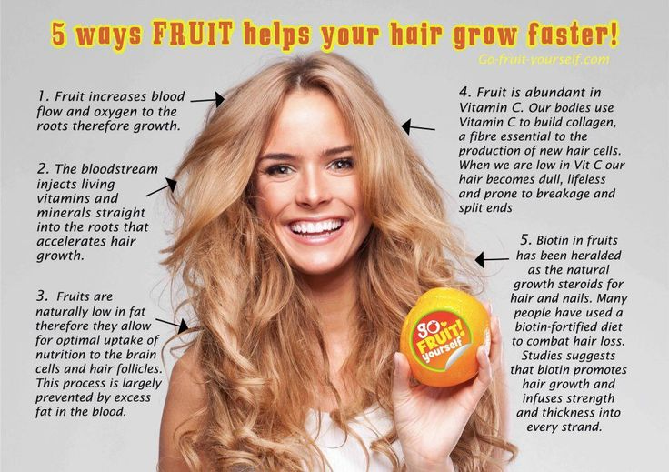 Fruit helps our hair grow faster :) We simply love it! <3