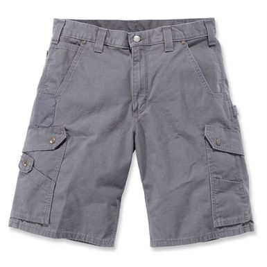 Carhartt's Ripstop Cargo Work Shorts are made with 100% ripstop cotton. They come with lined rear and front leg pockets and large cargo pockets. They also feature a gusseted crotch for maximum comfort.