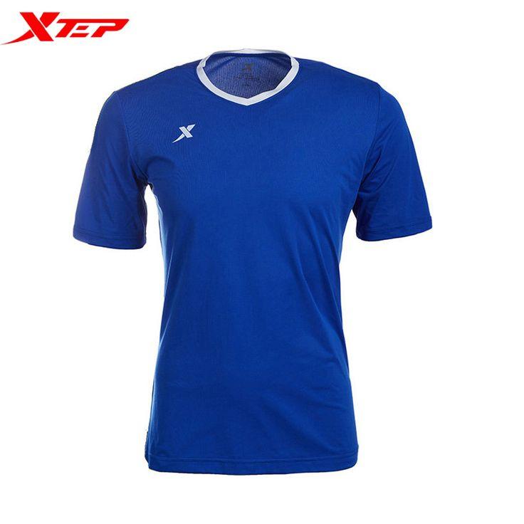 Xtep мужчины летом кофта спорт футболка с коротким рукавом открытый дышащий фитнес зал быстрый сухим о-образным шеи топы