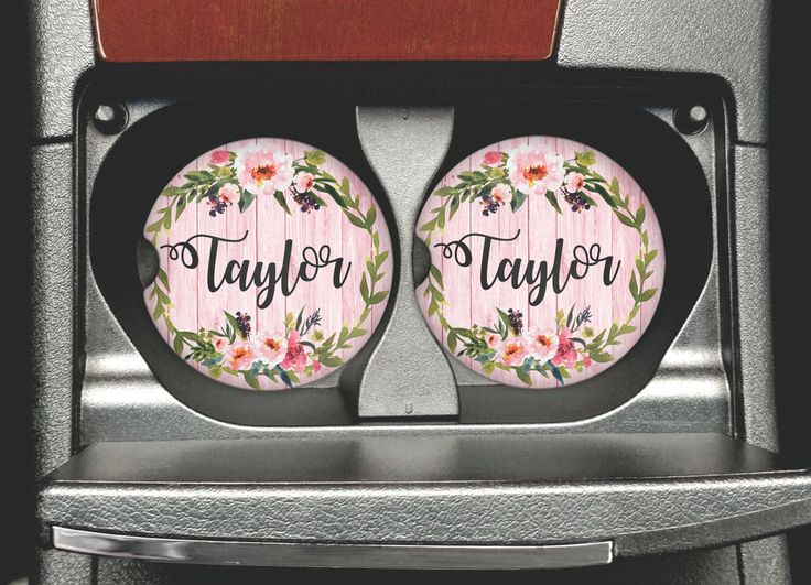 Personalized Car Coasters - Sandstone Coaster - Personalized Sandstone Car Coaster - Coasters - Car Accessories - Watercolor Flowers by MysticCustomDesignCo on Etsy