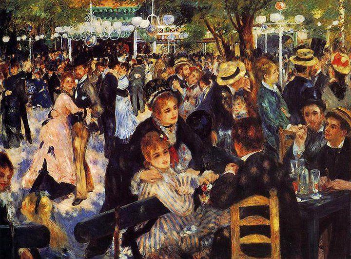 IV. LES TEMPS MODERNES 8.L'IMPRESSIONNISME Auguste Renoir Le bal au Moulin de la Galette (1876)