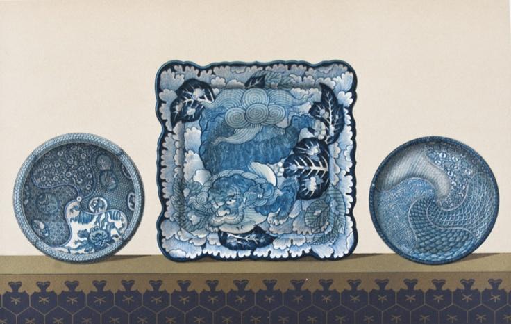 Keramics of Japan, lithograph print