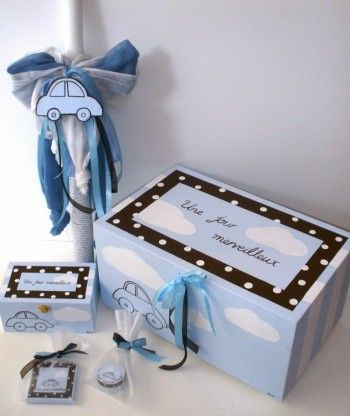 Car Themed Christening Set