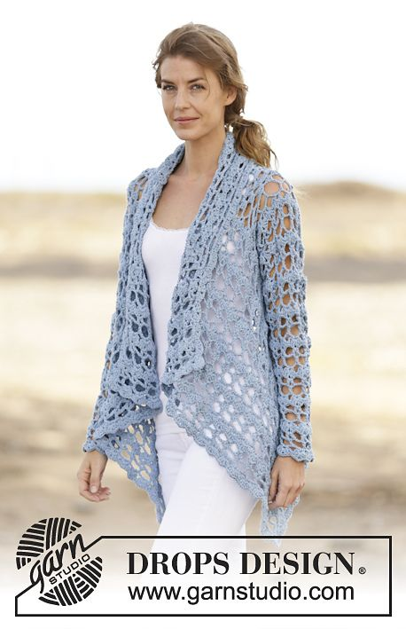 Spring Bliss Jacket By DROPS Design - Free Crochet Pattern - (ravelry)