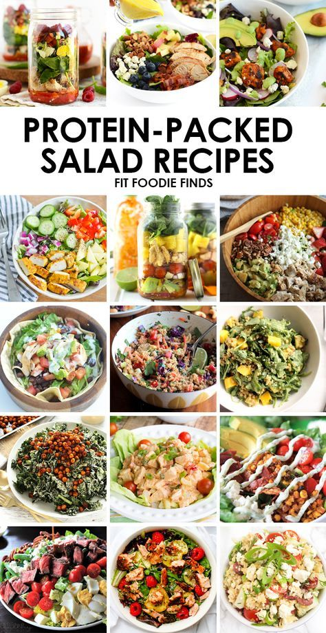 Make one of these protein packed salad recipes for a delicious and healthy meal that will keep you fuller!