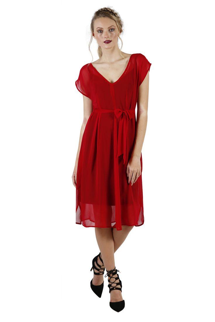 Red Summer Dresses   Designer Wear   Annah Stretton