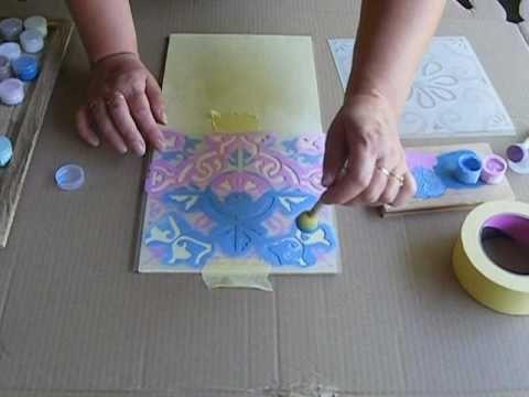 Szabloy warstwowe dwu kolorowe - sposób nakładania