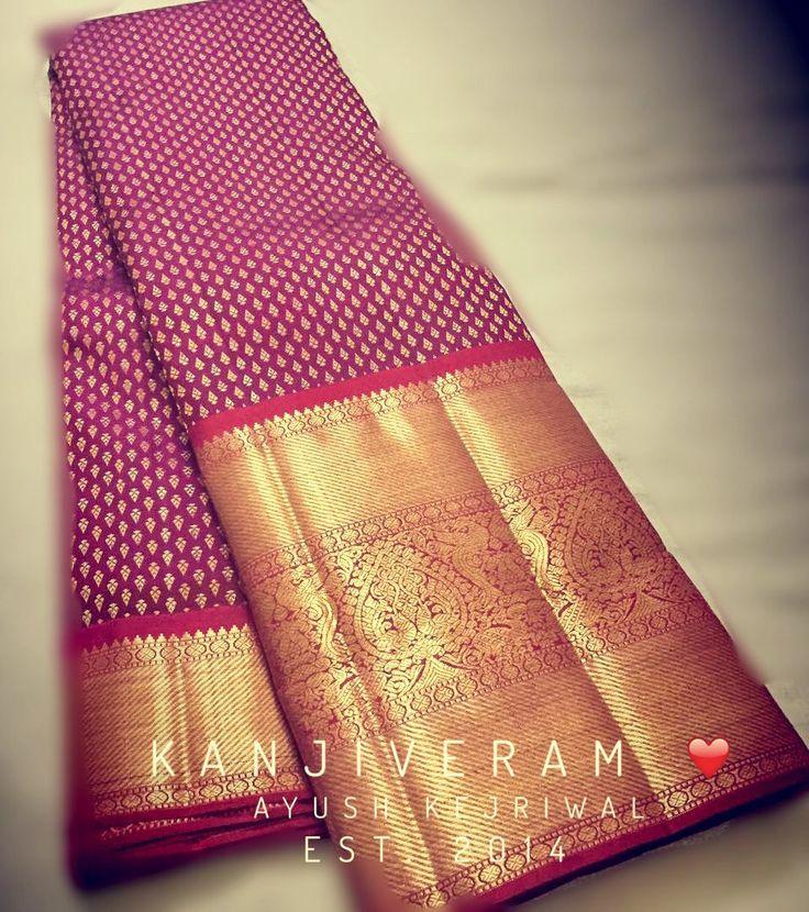 Kanjiveram Saree by Ayush Kejriwal For purchases email me at…