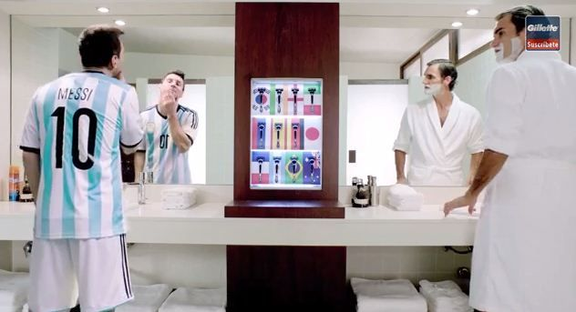 Gillette's New Funny Ad Starring Roger Federer and Lionel Messi (Video)