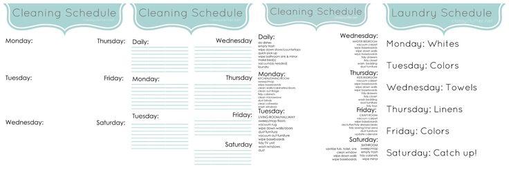 Organiza tus limpiezas semanales