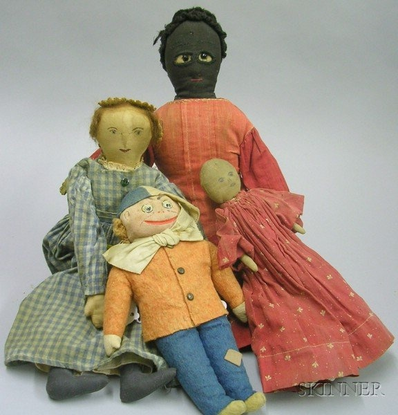 Four Cloth Dolls, America, late 19th / early 20th