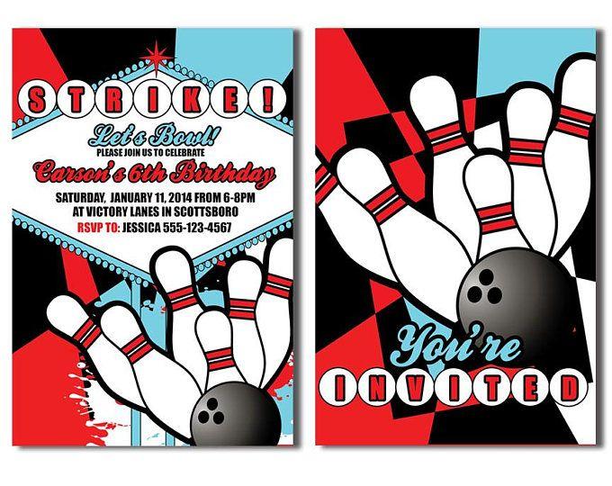 Pinterestu0027teki 25u0027den fazla en iyi Bowling invitations fikri - bowling invitation