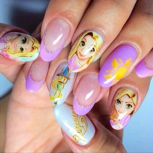 Rapunzel Nails: 98 Best Ideas About Disney Nails On Pinterest