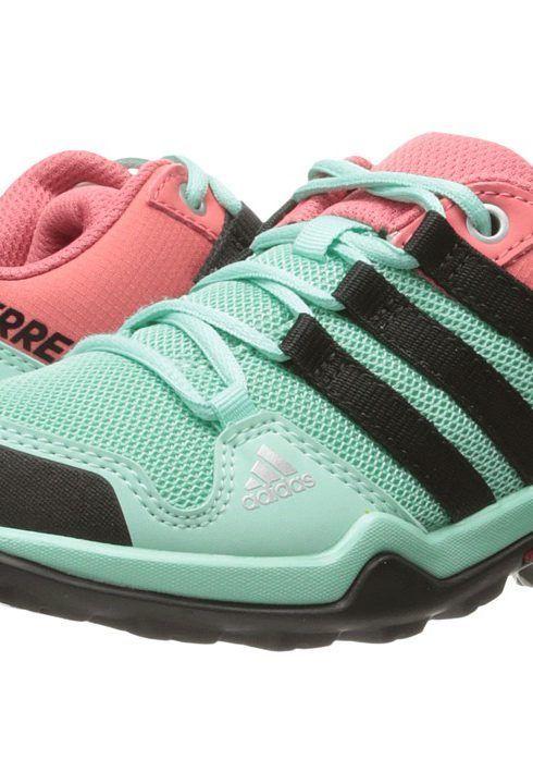adidas Outdoor Kids Terrex (Little Kid/Big Kid) (Easy Green/Black/Tactile  Pink) Girls Shoes