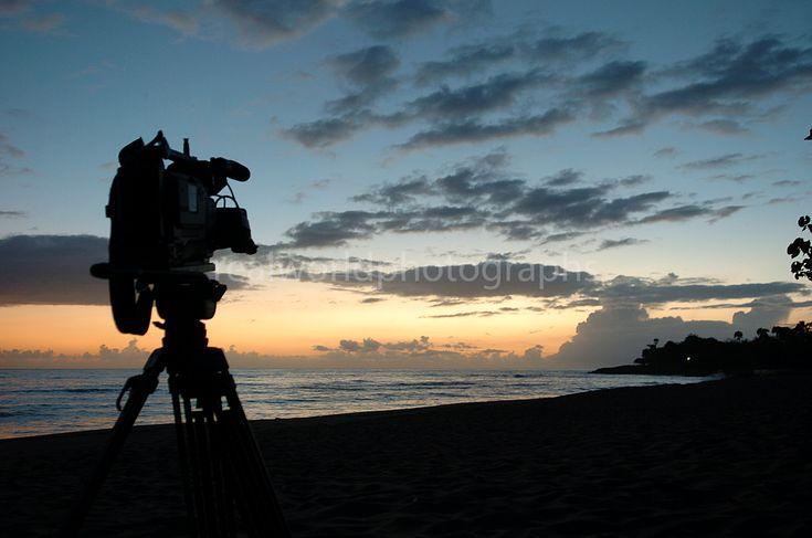 Filming a sunrise in Sosua, Dominican Republic. #travel #weather #documentary #sony #sachtler #sunrise #realworldtelevision #realworldphotographs #dominicanrepublic