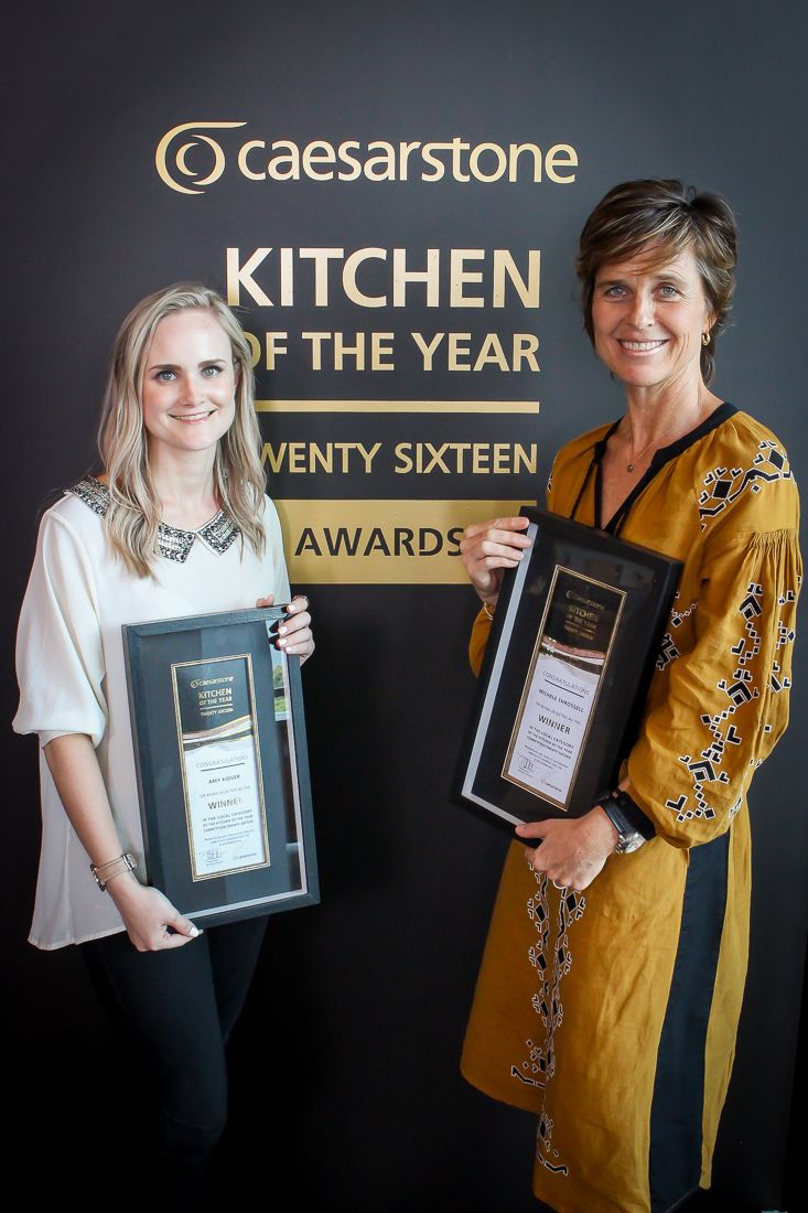 A delighted designer duo - Amy Kidger and Michele Throssell of Michele Throssell Interiors wowed the judges with their bespoke local kitchen design in Zimbali.