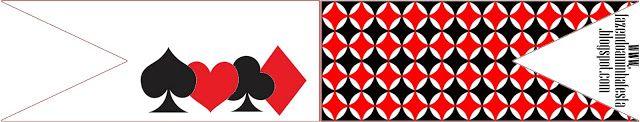 Jogos de Cartas - Mini Kit de Convites, Molduras, Rótulos e Lembrancinhas!