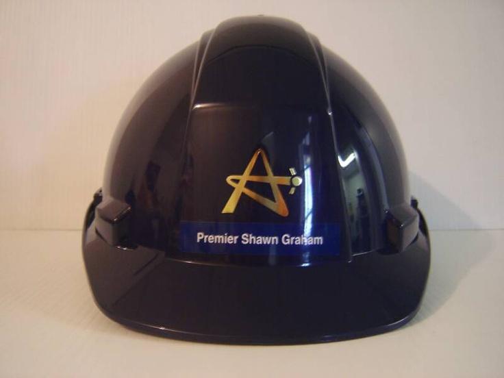 Personalized hard hat www.logosonstuff.ca