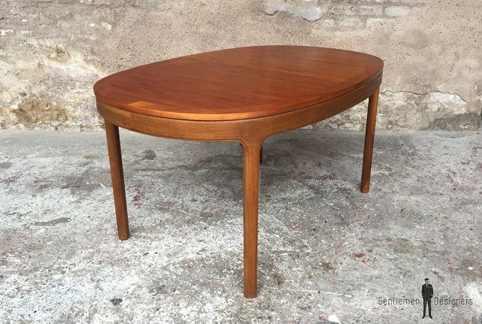 Table De Repas Ovale Scandinave En Teck Avec Rallonge Centrale Nathan Furniture Table Repas Table Et Chene Massif