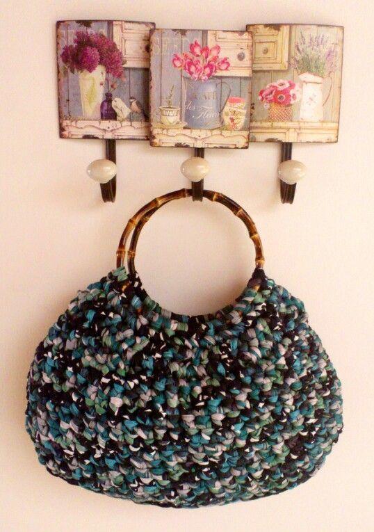 Bolso de trapillo #trapillo #crochet