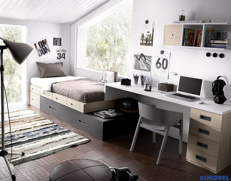M s de 25 ideas incre bles sobre dormitorios de j venes - Disenar dormitorio juvenil ...