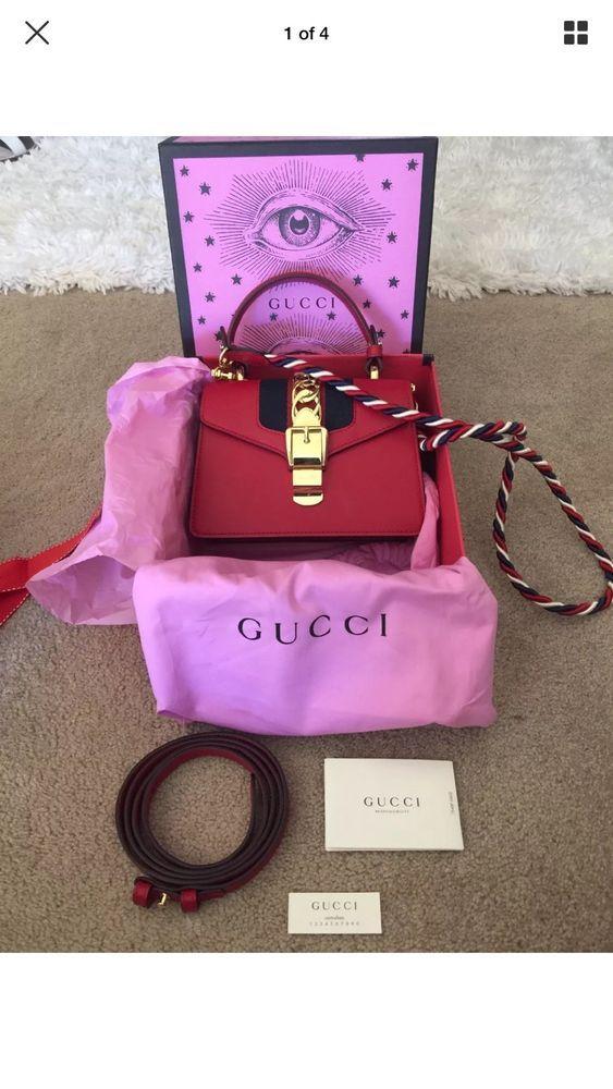 4f051695f17 Gucci Mini Sylvie In Red