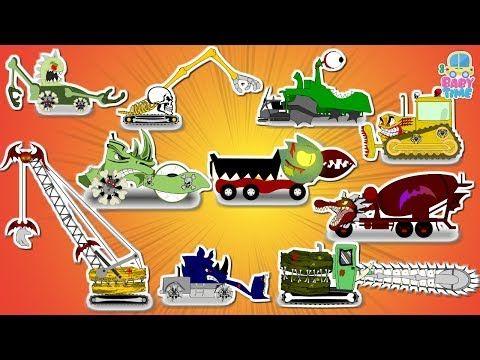 Bus War   Good Vs Evil   Scary Street Vehicles   Halloween Videos For Kids - YouTube