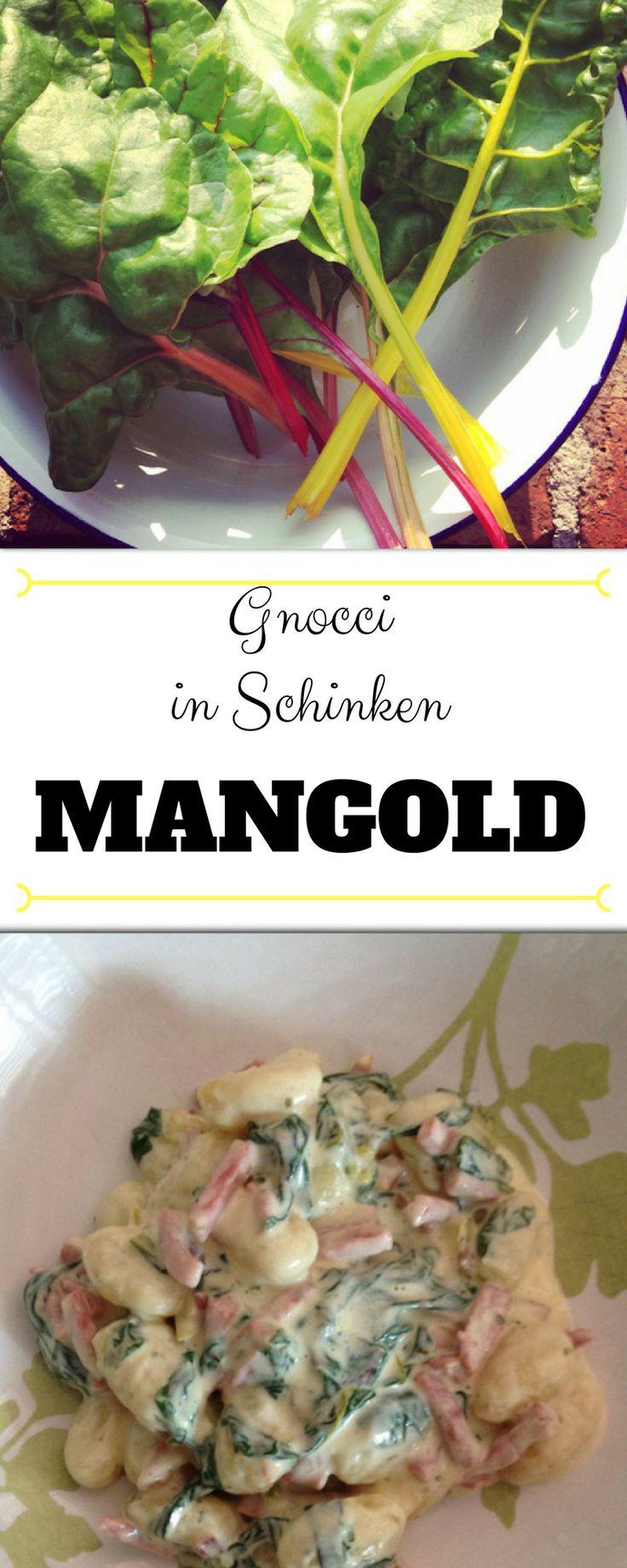 Schinken Mangold Sauce mit Pasta
