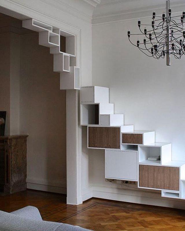 навесные полки в виде лестницы фото колоритный