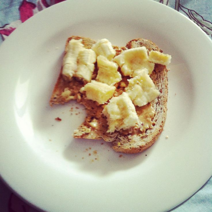Peanut butter and banana on toast... Post workout fuel up!