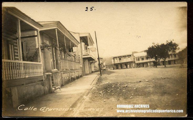 CAYEY, Puerto Rico Real Photo PC - Calle Asuncion - Unused circa 1910
