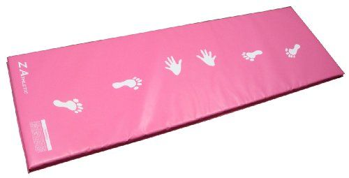 Z-Athletic Pink & Light Blue Children's Gymnastics Cartwheel/Beam Training Mat, 2015 Amazon Top Rated Gymnastics #Sports