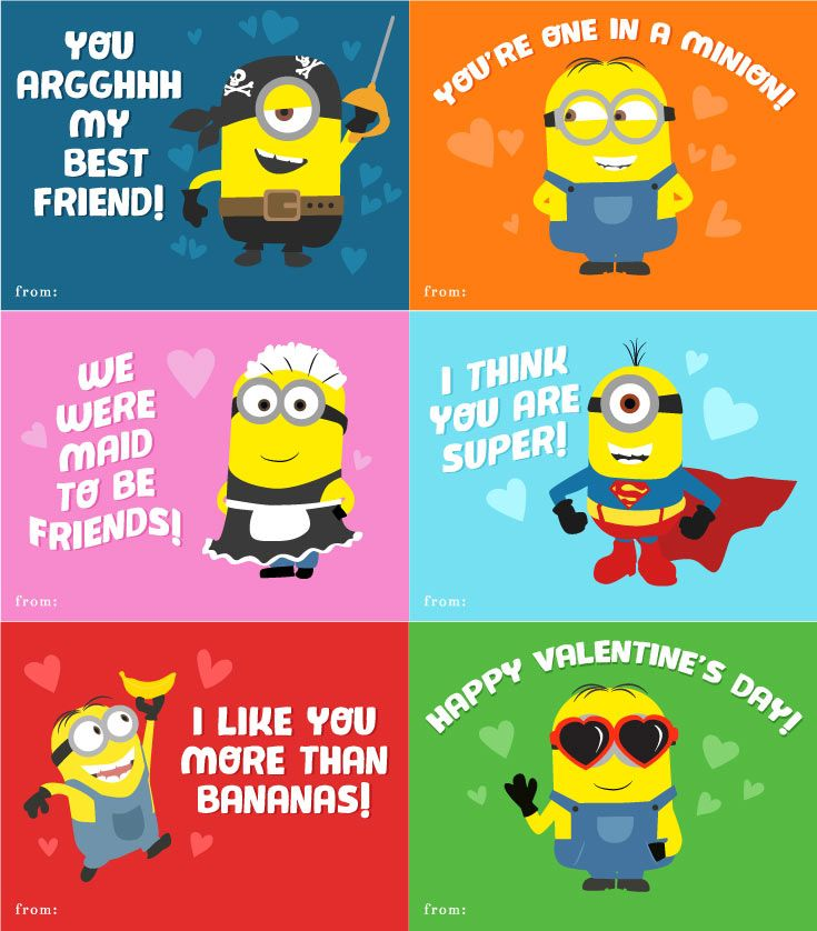 6 Free Printable Minion Valentines Every Despicable Me Fan Needs
