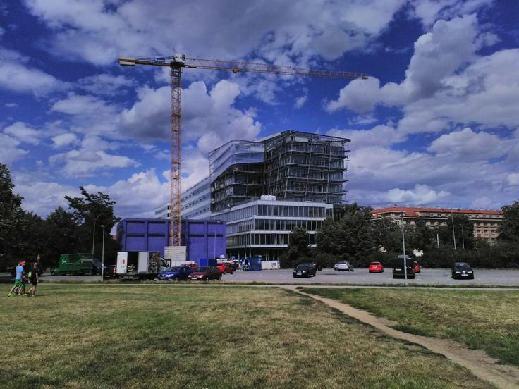 Building in progress, Dejvice, Prague